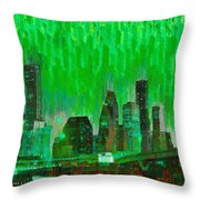 Houston Skyline 96 - Pa Throw Pillow