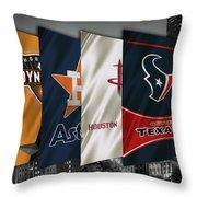 Houston Sports Teams 2 Throw Pillow