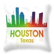 Houston Tx Throw Pillow