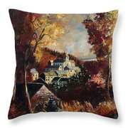 Houyet Village Belgium Throw Pillow