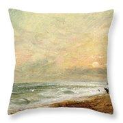 Hove Beach Throw Pillow by John Constable