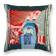 Hovering Woman Throw Pillow