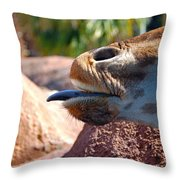 How About A Kiss Throw Pillow