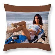 How About Those Legs? Throw Pillow