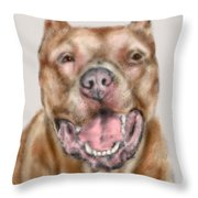 How Bout A Kiss  Throw Pillow