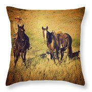 How 'bout Them Cowgirls Throw Pillow