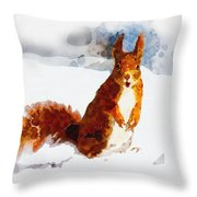 How Comedic Are Squirrels Throw Pillow