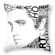How Great Thou Art Elvis Wordart Throw Pillow