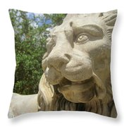 How Loud Is A Lion Throw Pillow