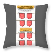 How Much Java Knowledge Is Required To Learn Hadoop? Throw Pillow