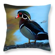 How Much Wood Could A Wood Duck Chuck Throw Pillow