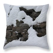 How The Mountain Formed Throw Pillow