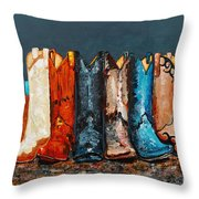 How The West Was Really Won Throw Pillow by Frances Marino