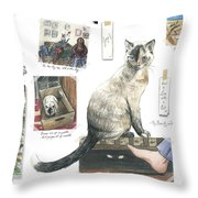 How To Live With A Cat Throw Pillow