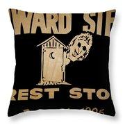 Howard Stern Rest Stop Throw Pillow