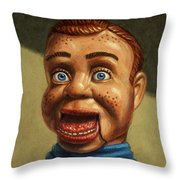 Howdy Doody Dodged A Bullet Throw Pillow