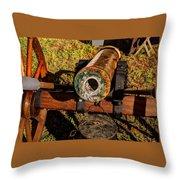 Howitzer Battle Of Honey Springs Throw Pillow