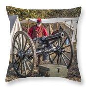 Howitzer Battle Of Honey Springs V3 Throw Pillow
