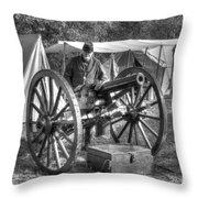Howitzer Battle Of Honey Springs V4 Throw Pillow