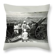 Howitzer Gun Turke World War Throw Pillow