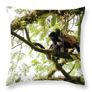 Howler Mother And Child Throw Pillow