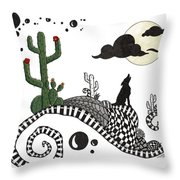 An Evening In The Desert Throw Pillow