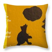 Howling Song Throw Pillow