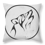Howling Wolf Art - Fool Moon Wolf Lovers Prints Throw Pillow