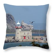 Howth Lighthouse 0005 Throw Pillow