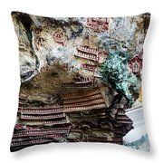 Hpa-an Caves Throw Pillow
