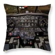 Hu-16b Albatross Cockpit Throw Pillow