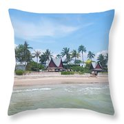 Huahin Beach View Throw Pillow