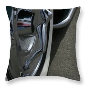 Hub Cap Curves Throw Pillow