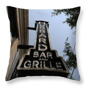 Hubbard Bar And Grille Sign Throw Pillow