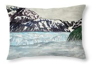 Hubbard Glacier In July Throw Pillow