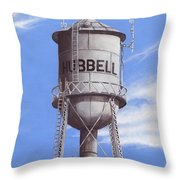 Hubbell Water Tower Ne Throw Pillow