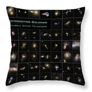 Hubble Galaxy Poster Throw Pillow