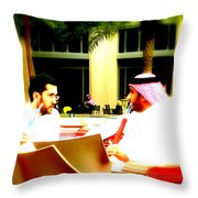 Hubbly Bubbly In Dubai Throw Pillow