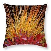 Huckleberry Glow Throw Pillow