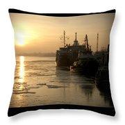 Huddled Boats Throw Pillow