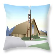 Hudson Community Church Throw Pillow