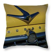 Hudson Hood Ornament And Logo Throw Pillow