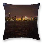 Hudson River At Dusk Throw Pillow