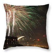 Hudson River Fireworks I Throw Pillow