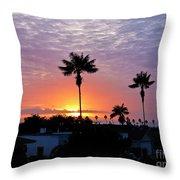 Hued Sunset  Throw Pillow