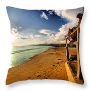 Huequito Beach Throw Pillow