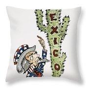 Huerta: Cartoon, C1914 Throw Pillow