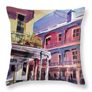 Hues Of The French Quarter Throw Pillow