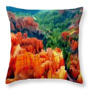 Hues Of The Hoodoos In Bryce Canyon National Park Throw Pillow