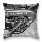 Huffy Radio Bike Throw Pillow